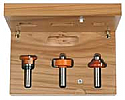 CMT 800.525.11 - 3-Piece DIVIDED LIGHT DOOR ROUTER BIT SET - 1/2-Inch Shank