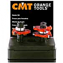 CMT 800.626.11 - 2-Piece TONGUE and GROOVE ROUTER BIT SET - 1/2-inch Shank