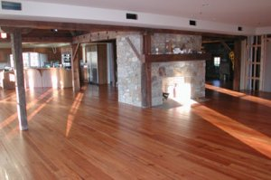 Large Barn Restoration Project with Heart Pine
